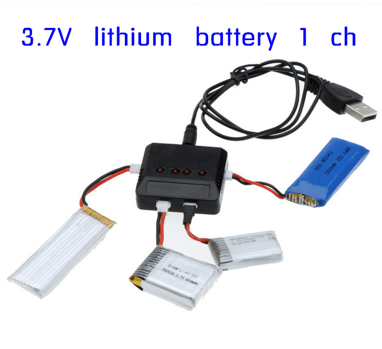 Original brand RC Helicopter Airplane 4port USB Lipo Battery Charger units For Hubsan X4 H107L H107C WLtoys Syma X5C x5sc kusb 001 usb charger for syma jjrc cheerson hubsan mjx