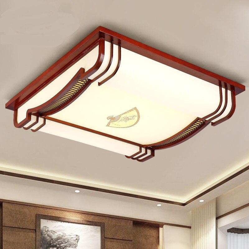 В современной спальни квадратный деревянные потолочные светильники антикварные пергамент освещения прокрутки потолочный светильник книг