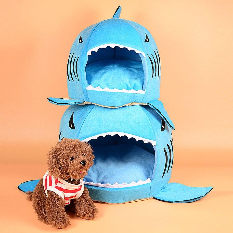 Shark Pillow Sleeping Bag aliexpress : buy 42*40cm pet dog sleeping bag shark kennel cat