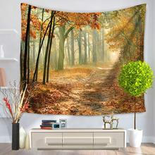 Beautiful Scenery 3D Bohemian Wall Hanging Bedroom Decoration Tablecloths Beach Shawls Picnic Cloth Multi-functional Tapestry