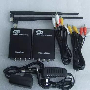 ФОТО 2W 2.4G Wireless AV Video Sender + Receiver for cctv camera