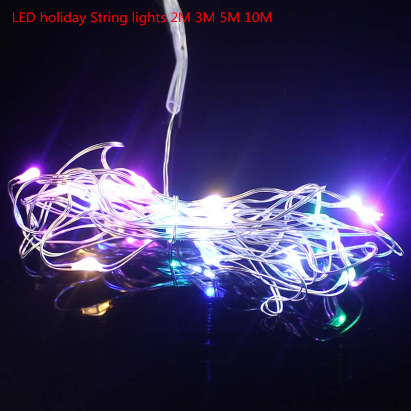 Us 1 98 2 M 3 5 Proof D Water Led Holiday Lights Tethers For Colored Fairy Christmas Party Xmas Festival Of Rope In Bulbs