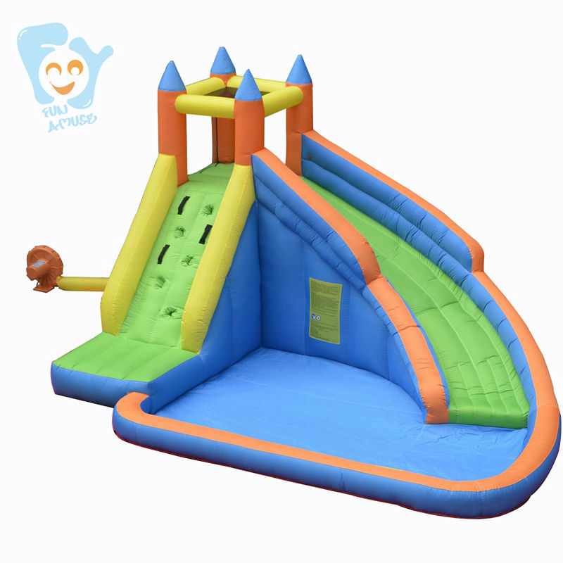 Summer Inflatable Water Park Slides For Children Swimming Pool Float Inflatable Water Toy Back Yard Fun Boia De Piscinas