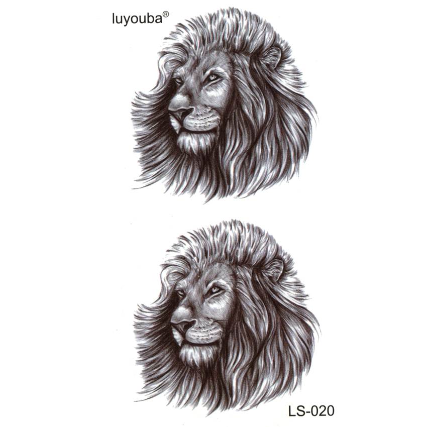 Lion Panthers Waterproof Temporary Tattoos Men Beauty Animal Harajuku Tatoo Sleeves Phantom Flash Tattoo Sticker Tatuajes