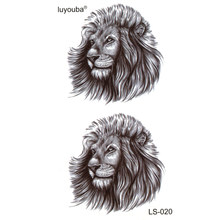 Lion Panthers waterproof temporary tattoos men beauty animal harajuku tatoo sleeves phantom flash tattoo sticker tatuajes(China)