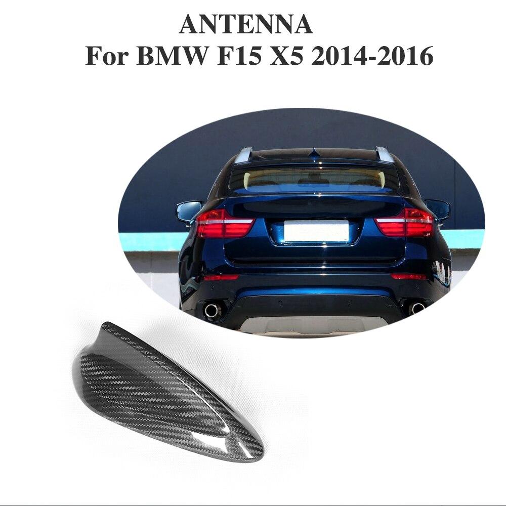 En Fiber De carbone De Voiture Toit aileron de requin Antenne pour BMW F15 X5 2014-2016