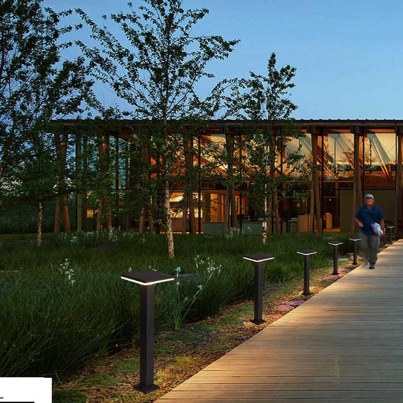 Открытый Светодиодное ландшафтное освещение современный Водонепроницаемый фонарный столб алюминиевые садовые фонари IP54 светодиодный газон лампы Двор Путь Света
