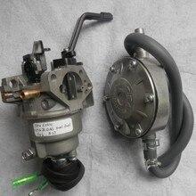 5 кВт бензин LPG конверсионный карбюратор комплект ручной дроссель для HONDA GX340 GX390 карбюратор регулятор 13 л.с. бензиновый двигатель запчасти