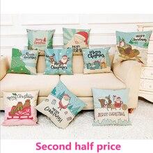 Santa Claus pillowcase Christmas gifts Car cushion ins wind office sofa bedroom cute pillow Home decoration 45x45cm