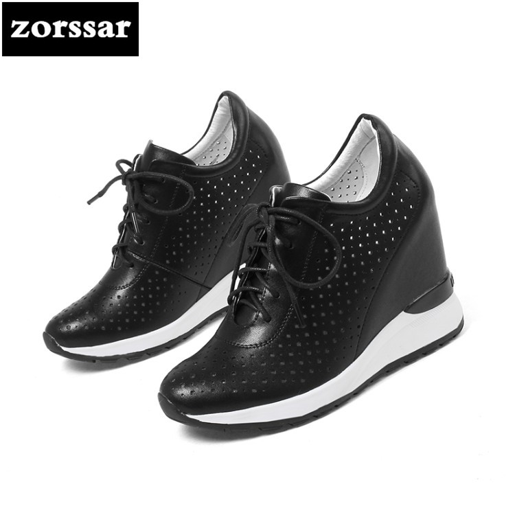 {Zorssar} Brand 2018 spring New arrival Casual womens shoes Wedges height increasing High heels pumps women Platform shoes zorssar brand 2018 new womens creepers shoes heels casual wedges high heels pumps shoes fashion suede women platform shoes