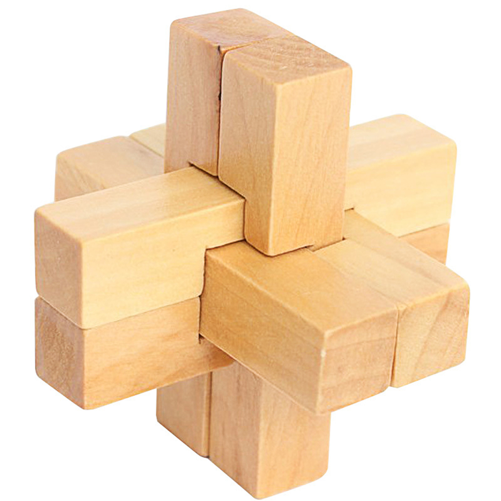 Kids Chinese Traditional Wooden Puzzle Toy Kong Ming Luban Lock Children 3D Brain Teaser Macthing Games Intellectual Unlock Toy