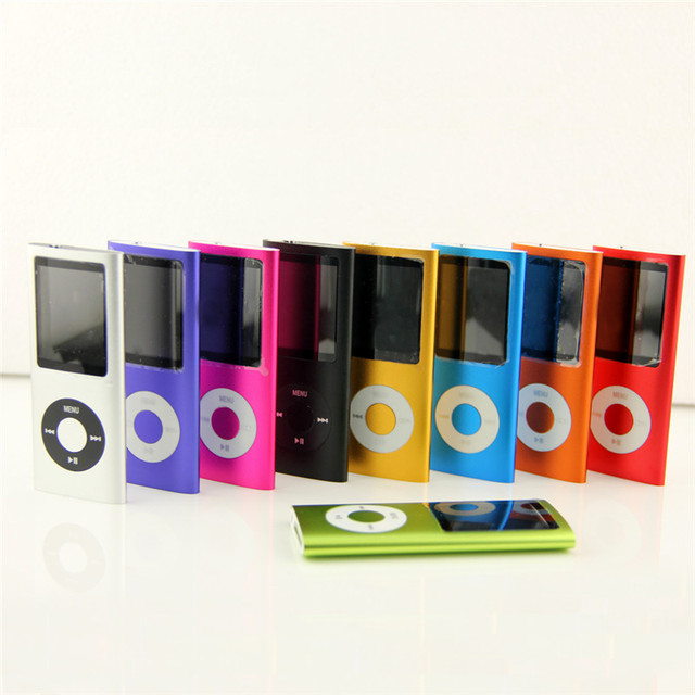 High Quality  Cheapest  9 Color New Slim 16GB 1.8 LCD 4th Gen Mp4 FM Radio Video Player +Earphone+USB Cable+ Silicone Case