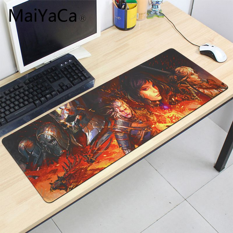 MaiYaCa The Witcher 3 Wild Hunt Warriors Magic Hood Mouse Pad Overlock Edge Big Gaming mouse Pad For The Witcher 3 ...