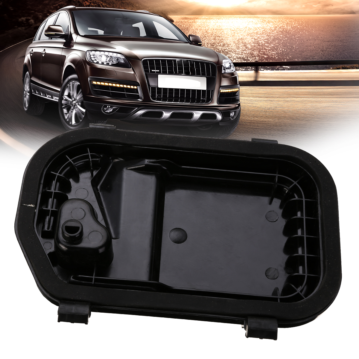 New Arrival 1pc Right Headlight Cover Protective Cap 4F0941158 For Audi A6 S6 RS6 C6 2005-2011 radiator cooling fan relay control module for audi a6 c6 s6 4f0959501g 4f0959501c