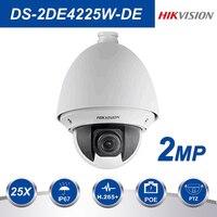Hikvision PTZ IP Camera DS 2DE4225W DE 2MP 25X Zoom Speed Dome POE Camera H.265+ support Defog EIS Regional Focus