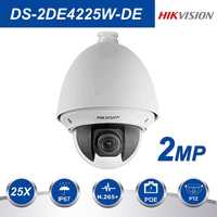 Hikvision PTZ IP Camera DS 2DE4225W DE 2MP 25X Zoom Speed Dome POE Camera H.265+ support Defog EIS Regional Focus