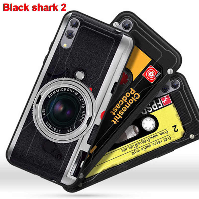 For xiaomi mi black shark 2 Case retro soft phone Case blackshark 2 Cover Protective Shell cover fundas black shark2 SKW-A0 bags