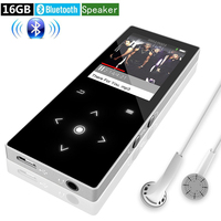 MP4 Player Bluetooth 16G with Speaker Touch Screen Supports Video FM Radio Lossless Music Player Supports