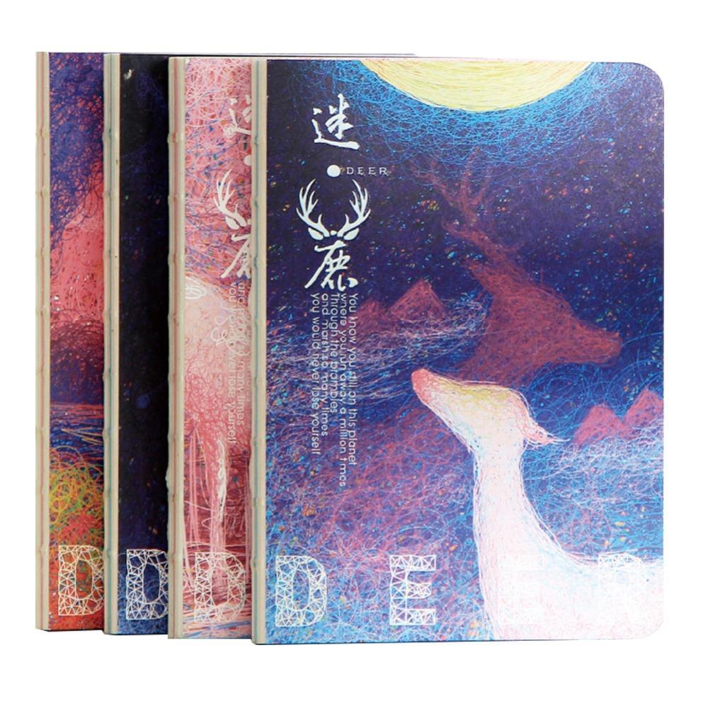 Япония Творческие тенденции подарки иллюстратор оленей блокнот Тетрадь дневник свет в темноте Даулинг Бумага diy книга