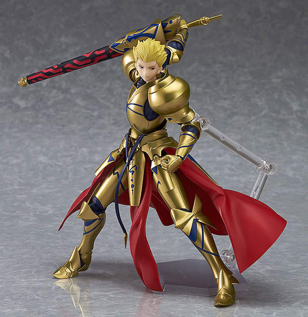 "Fate/stay Night figma 300# Fate Gilgamesh PVC Action Figure Collectible Model Christmas Gift Toy 5.5""15cm 5"