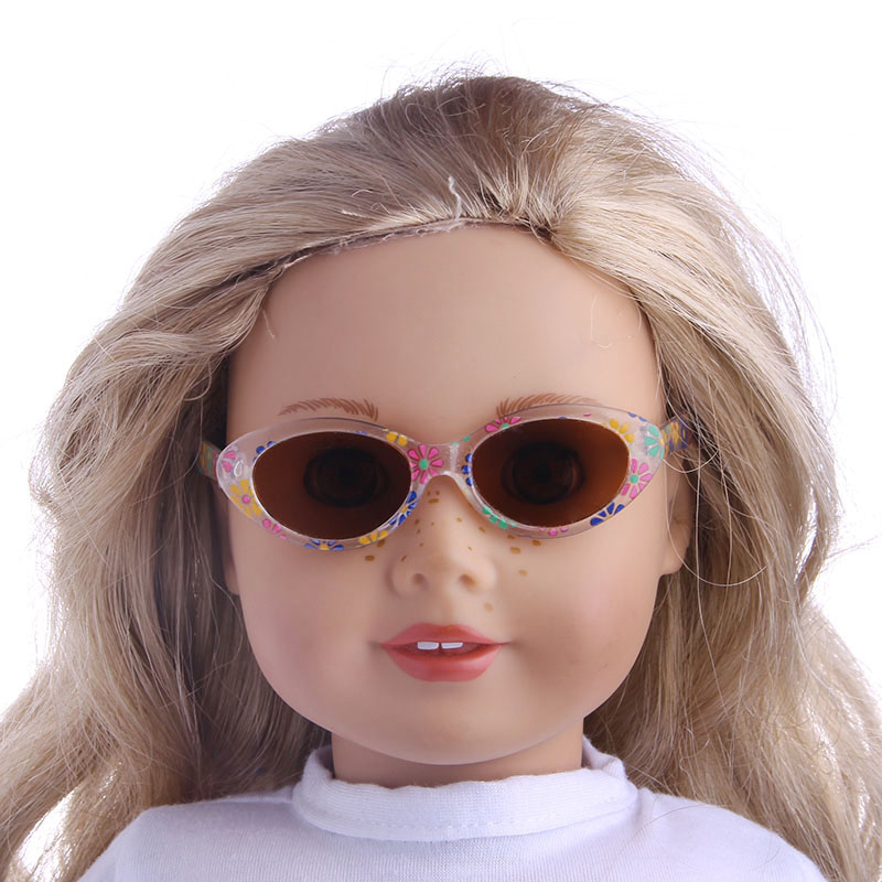 Five new fashion sunglasses Fit For American Girl Doll 18 inch American Girl Doll,43CM Newborn baby doll Accessories american girl doll clothes halloween witch dress cosplay costume for 16 18 inches doll alexander dress doll accessories x 68