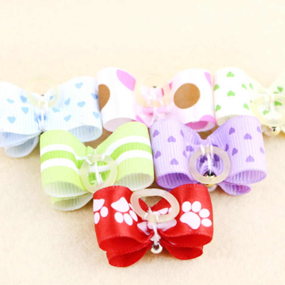 10 шт ручной милые бабочки для домашних собак бантики для собак любовный бантом в горошек с бантом для Щенки аксессуары
