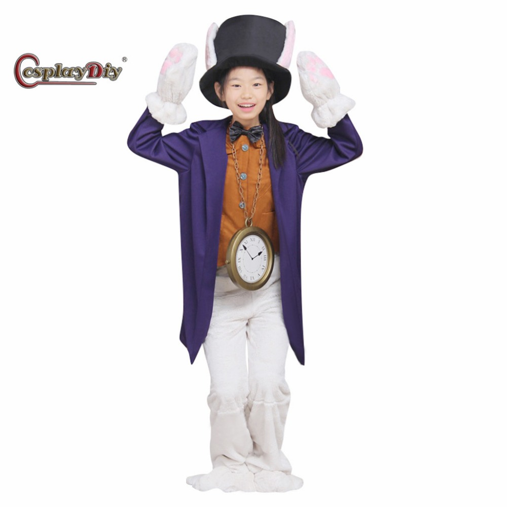 Cosplaydiy The Rabbit Costume Children Christmas Carnival Cosplay Clothes Custom Made J5
