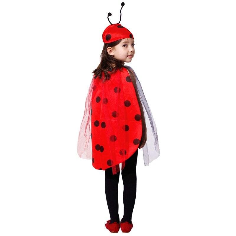 Cute Girls Ladybug Costume Children's day Fancy Dress