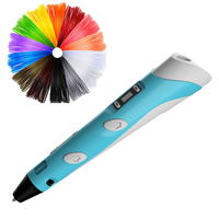 Hot selling 3D pen 2nd generation intelligent 3D pen for kids with LCD screen and free filaments ABS/PLA all colors for sale|3D Pens| |  -
