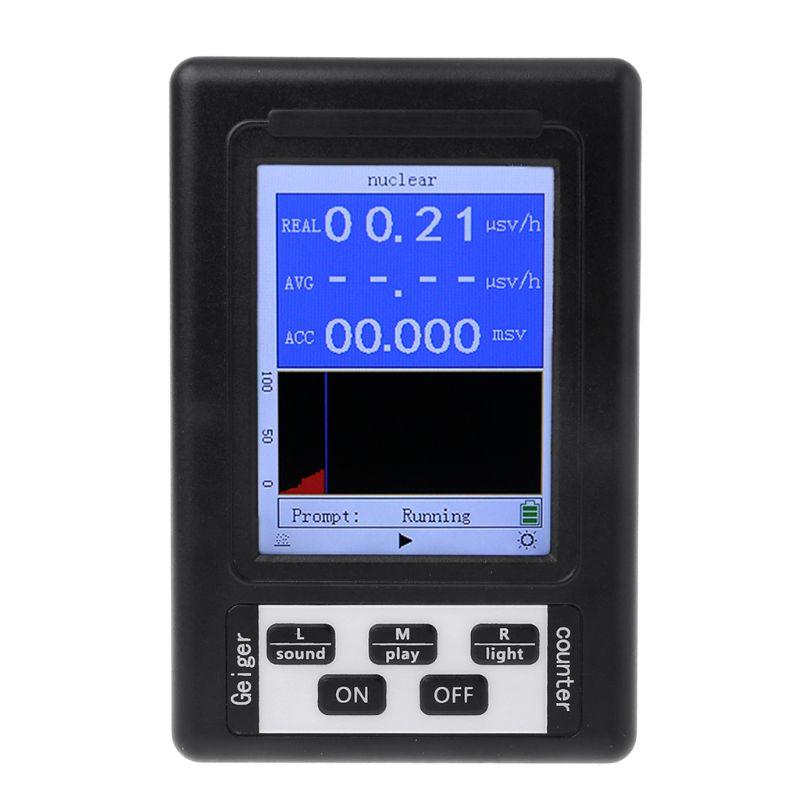Geiger Counter Nuclear Radiation Detector Personal Dosimeter Marble Tester X ray Display Screen Radiation Dosimeter