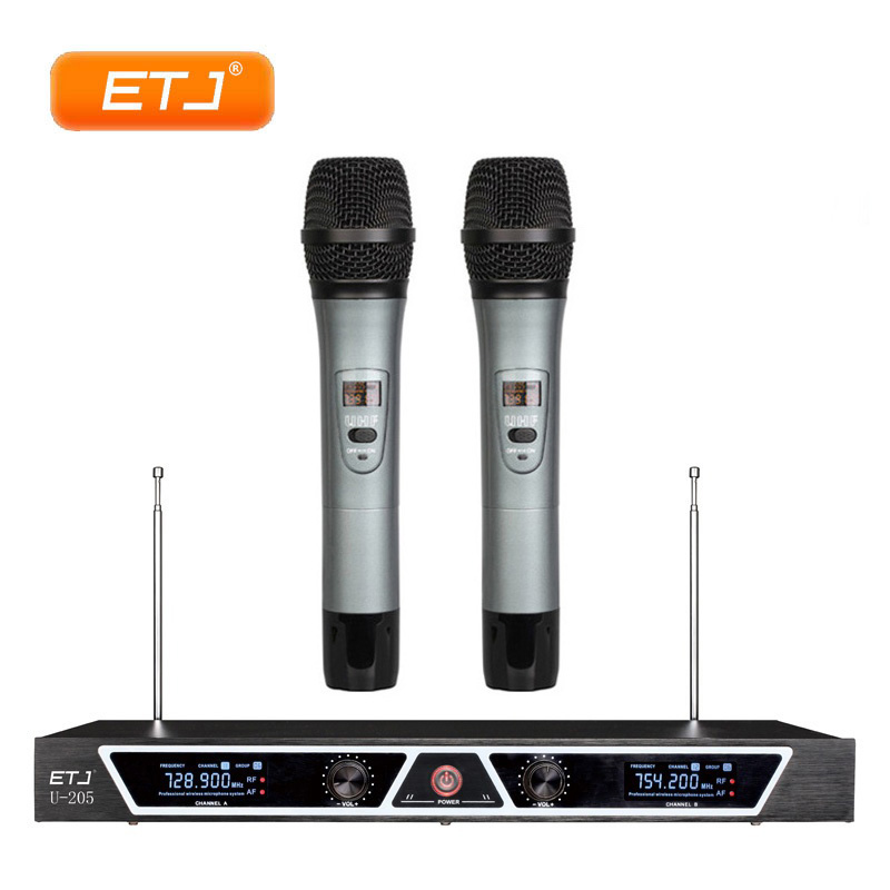 By DHL UPS EMS Professional Wireless Microphone 2 Handheld Transmitter Beltpack VHF Wireless Microfone U-205By DHL UPS EMS Professional Wireless Microphone 2 Handheld Transmitter Beltpack VHF Wireless Microfone U-205