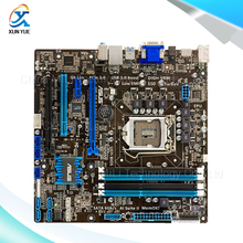 For Asus P8H77-M Original Used Desktop Motherboard For Intel H77 Socket LGA 1155 For i3 i5 i7 DDR3 32G SATA3 USB3.0 uATX On Sale