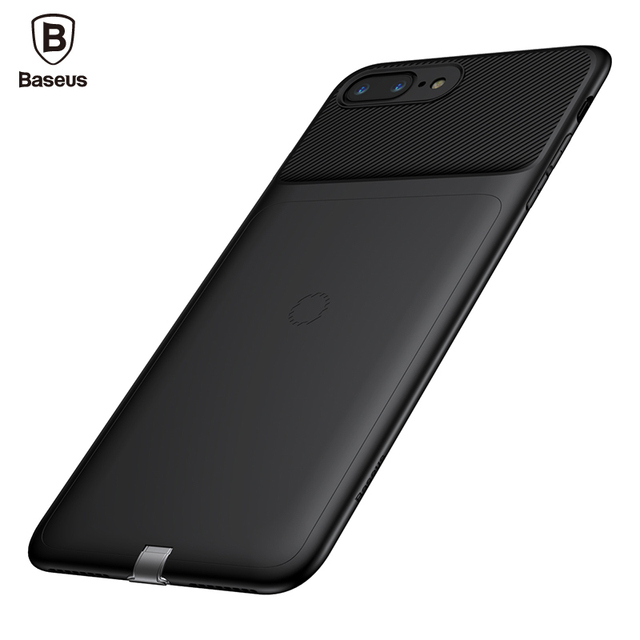 wholesale dealer 26fe6 86f4a US $14.33 32% OFF|Baseus Universal Qi Wireless Charger Receiver For iPhone  8 7 Ultra Thin Slim Wireless Charging Cover Case For iPhone 8 7 Plus-in ...
