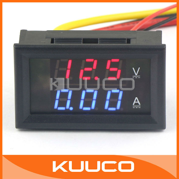 2in1 Voltage Current Monitor Meter YB27VA DC 300V/2A Red Blue Dual