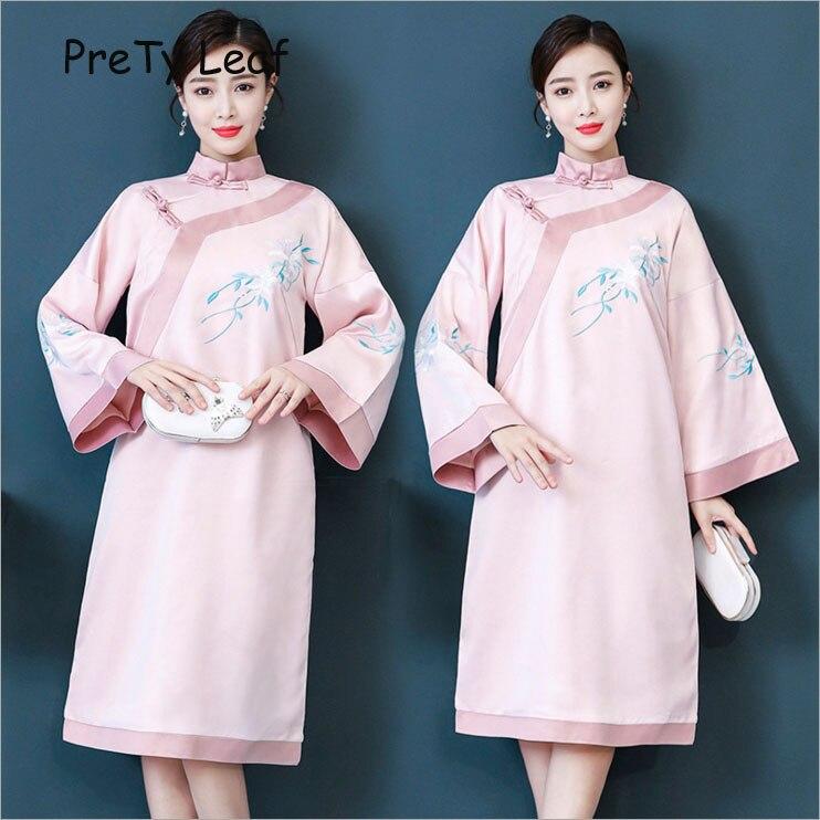 2019 Brodé Nouveau Cheongsam Robe Printemps oxreCWdB