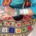 Gypsy Boho Vintage Prata Oval Contas Correntes de Metal Slave Pulseiras Para Mulheres Chique Festival Coin Encantos Pulseira Jóias Turca