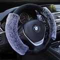 6 COLORS false fox fur Winter Plush Fur Car Steering Wheel Cover For 95% Car Styling 38cm very comfortable with high quality