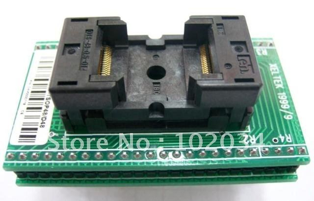 100% NEW OTS-48-0.5-01 TSOP48 SOP48 IC Test Socket / Programmer Adapter / Burn-in Socket  (SA247) genius hs 300a silver