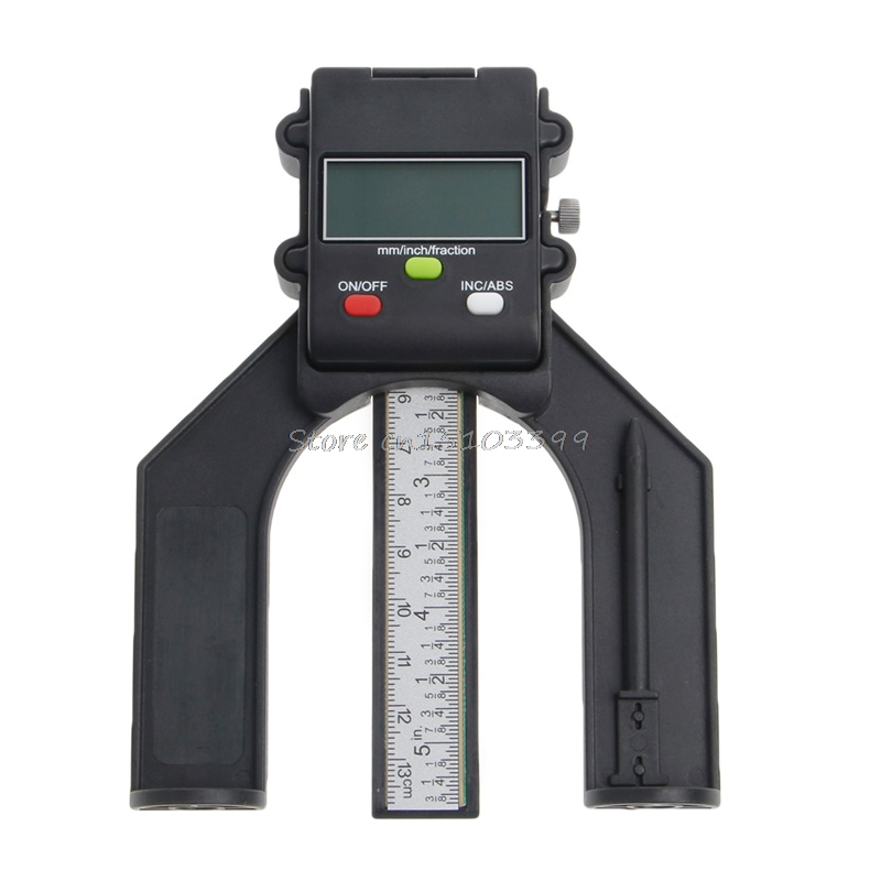 Digital LCD Magnetic Feet Aperture 80mm Hand Router Self Standing Depth Gauge Drop Ship