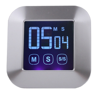 Hot LCD Large Display Kitchen Timer Electronic Touch Cooking Timer Free Shipping
