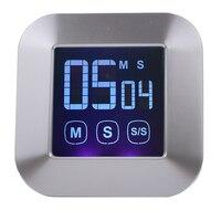 Sıcak LCD büyük ekran mutfak sayacı, elektronik dokunmatik pişirme zamanlayıcı, ücretsiz kargo