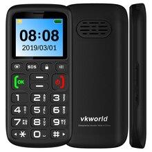 VKworld Z3 мобильный телефон для пожилых людей 1,77 дюймов 1000 мАч супер батарея фонарик SOS FM русский язык две sim-карты 2G мобильные телефоны