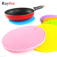 18/14/9 cm Coasters For Kitchen Gadgets Silicone Heat Resistant Non-slip Mats Insulation Pad