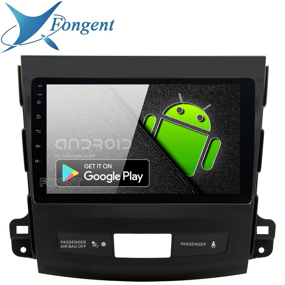 9 IPS 1Din Car Radio Android 9,0 para Mitsubishi Outlander Multimedia 2007, 2008, 2009, 2010, 2011 GPS Auto ESTÉREO DPS Multimedia