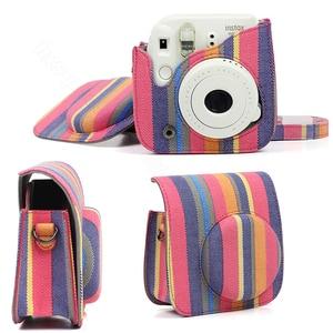 Image 5 - Fujifilm Instax Mini 8 Mini 9 protecteur dappareil photo, pochette en toile accessoires pour appareil photo à Film instantané, sac pour appareil photo à bandoulière de qualité