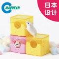 Nova Moda animal de Estimação Pequeno Animal Banho Suprimentos Hamster Banheiro Quadrado Higiênico Divertido Brinquedo de Plástico Cor: Amarelo/Rosa Livre grátis