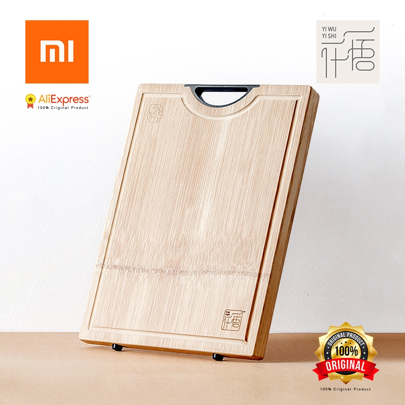 Xiaomi Original YI WU YI SHI Chopping board Cutting Board Without Wax Without oil Thickened whole Bamboo Antimicrobial yi na sheng wu l