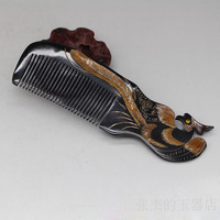 Ox horn comb, Phoenix Comb Wedding gift, resin black comb, hair massage comb, Valentine's Day gift