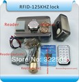 High quality, DIY DC-12V Electronic integrated RFID card lock, Double reading  card to open the door 125KHZ+5PCS card