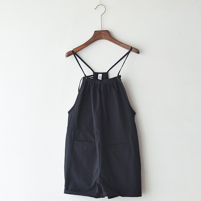 japanese fress solid color vintage overalls cotton loose student preppy style  calf-length women overalls Jumpsuits
